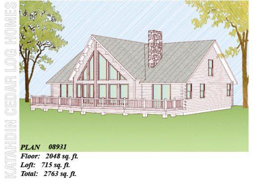 Log Home Plan #08931
