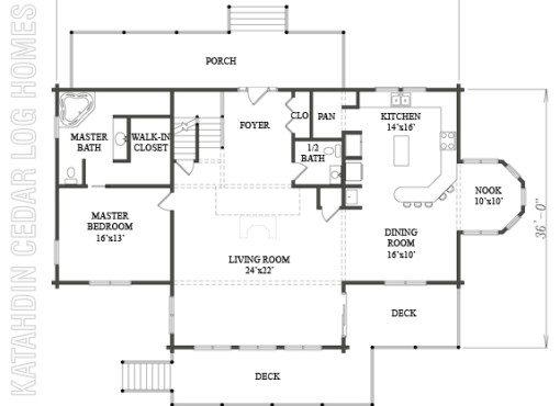 Log Home Plan #08936