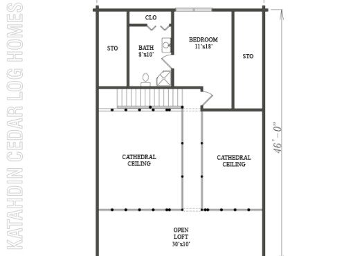 Log Home Plan #08980