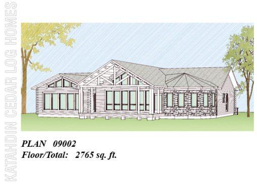 Log Home Plan #09002