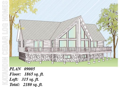 Log Home Plan #09005