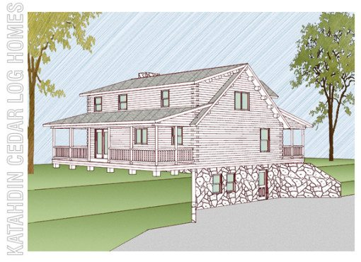 Log Home Plan #09924