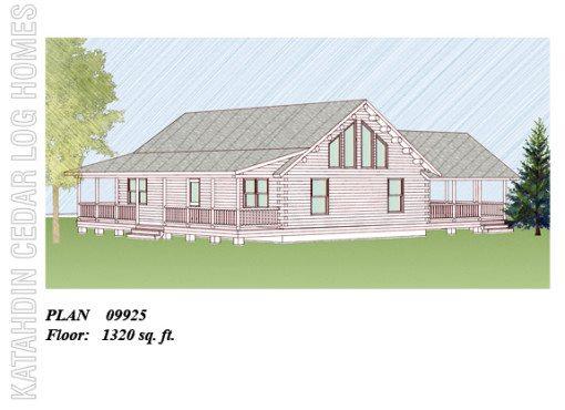 Log Home Plan #09925
