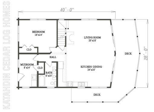 Log Home Plan #09929