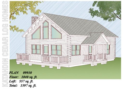 Log Home Plan #09930