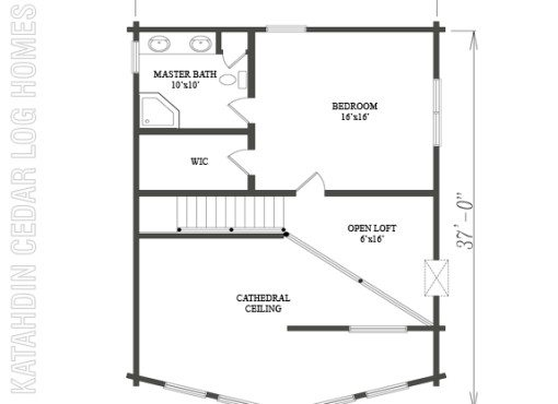 Log Home Plan #09932