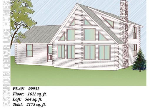 Log Home Plan #09932