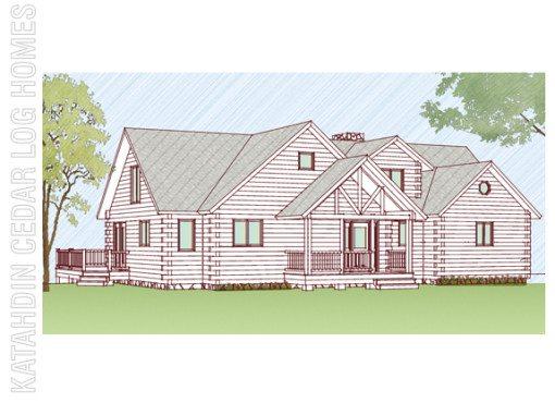 Log Home Plan #09933