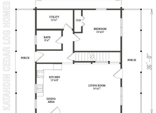 Log Home Plan #09935