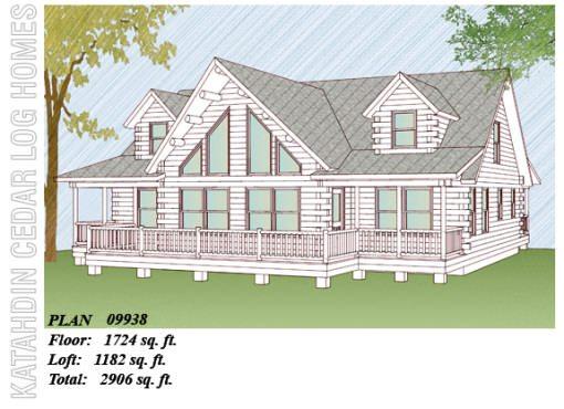 Log Home Plan #09938