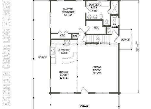 Log Home Plan #09941
