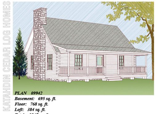 Log Home Plan #09942