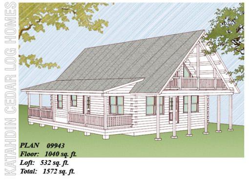 Log Home Plan #09943