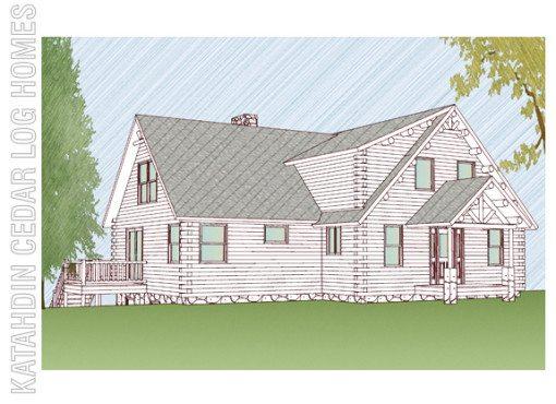 Log Home Plan #09944