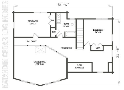 Log Home Plan #09946