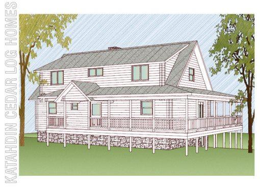 Log Home Plan #09948