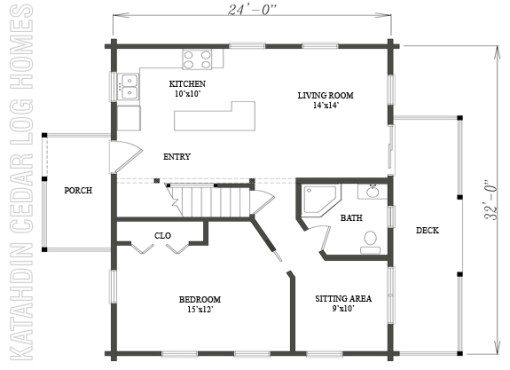 Log Home Plan #09957