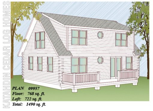Log Home Plan #09957