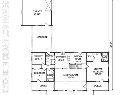 Log Home Plan #09958