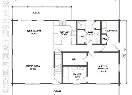 Log Home Plan #09961