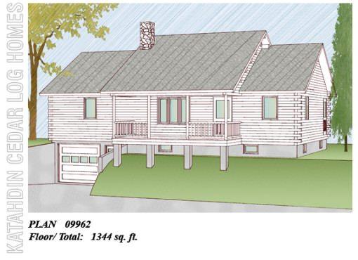 Log Home Plan #09962