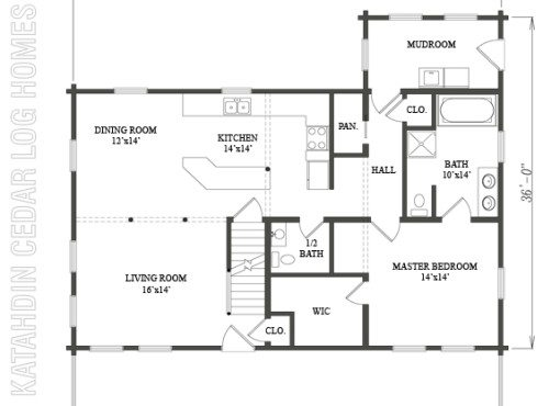 Log Home Plan #09963