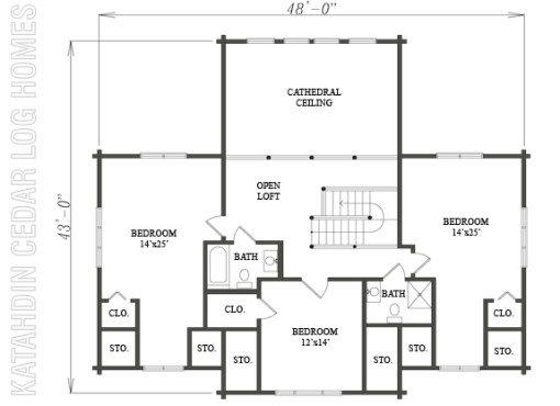 Log Home Plan #09964