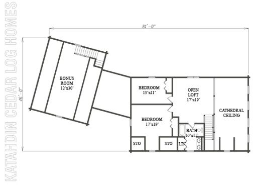 Log Home Plan #09965