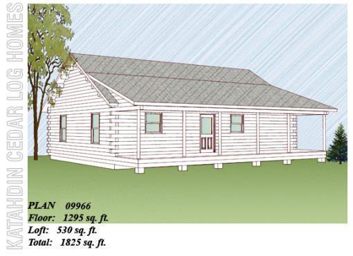 Log Home Plan #09966