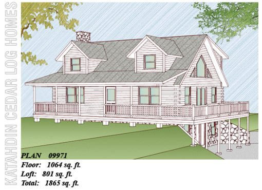 Log Home Plan #09971