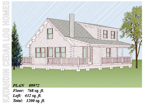 Log Home Plan #09972