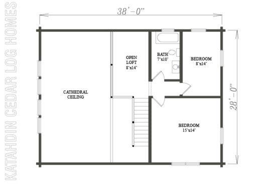 Log Home Plan #09975