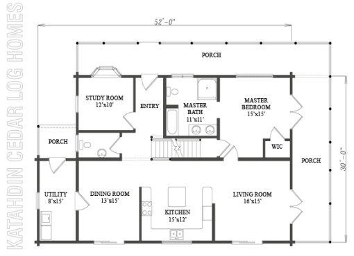 Log Home Plan #09976
