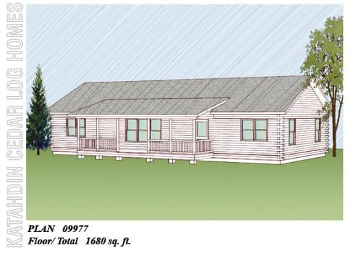 Log Home Plan #09977