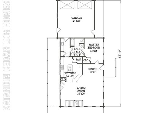Log Home Plan #09979