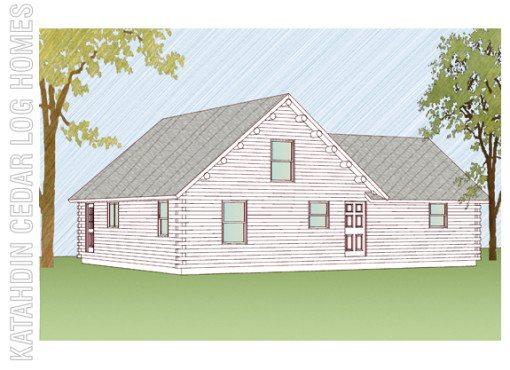 Log Home Plan #09981