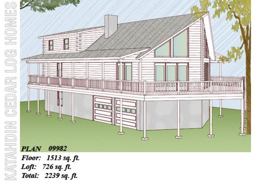 Log Home Plan #09982