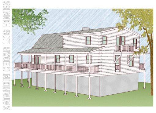 Log Home Plan #09982