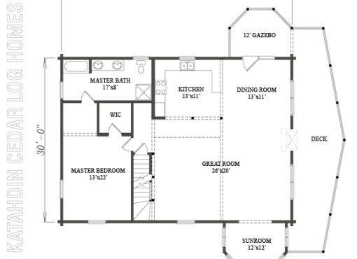 Log Home Plan #09985