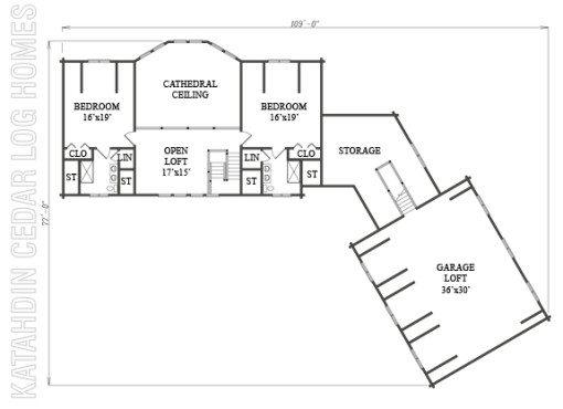 Log Home Plan #10006