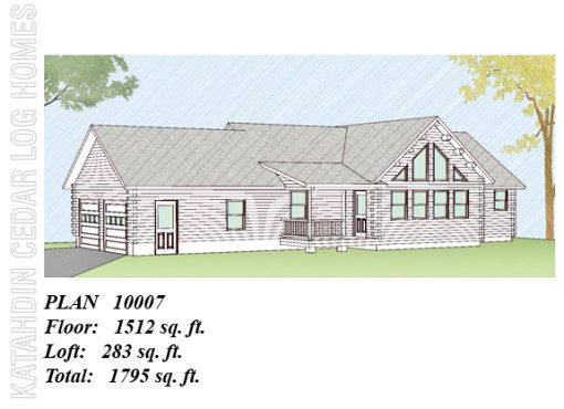 Log Home Plan #10007