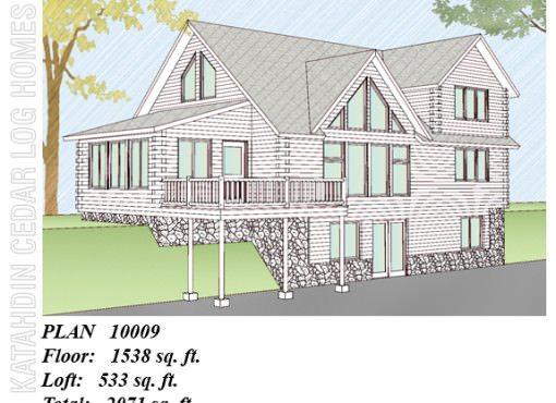 Log Home Plan #10009