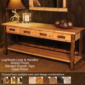 4-drawer-rustic-log-sofa-table