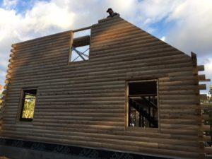 Precision precut logs make quick work of constructing a Katahdin Cedar Log Home.