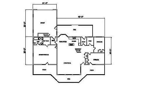 Log Home Plan #98454