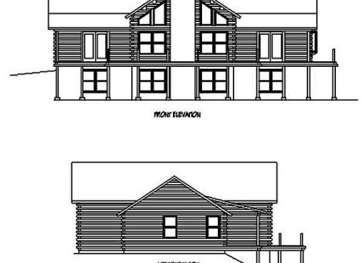 Log Home Plan #98514