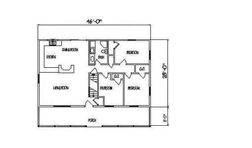 Log Home Plan #98566