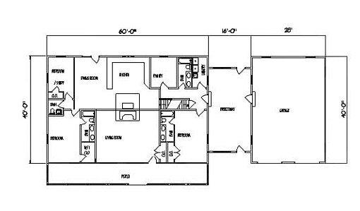 Log Home Plan #99528