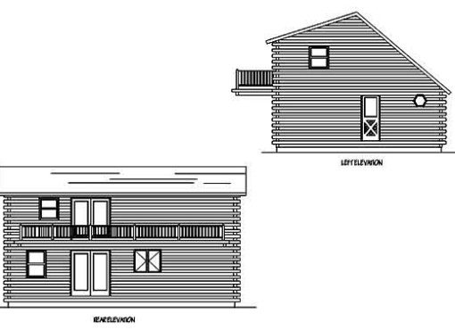 Log Home Plan #99530