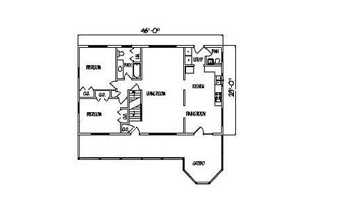 Log Home Plan #99533